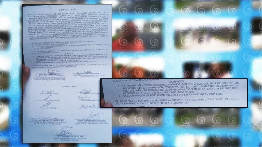 Padres destituyen a directora de escuela en Chalco