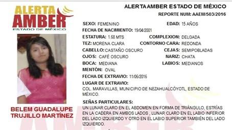 Alerta Amber Estado de México