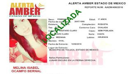 Desactiva PGJEM Alertas Amber emitadas por tres adolescentes