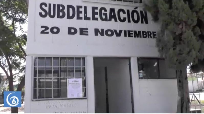 En total abandono el módulo de la subdelegación de la colonia 20 de noviembre