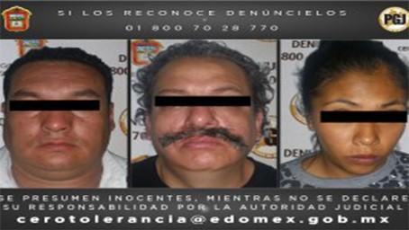 Asegura  PGJEM a cuatro presuntos narcomenudistas