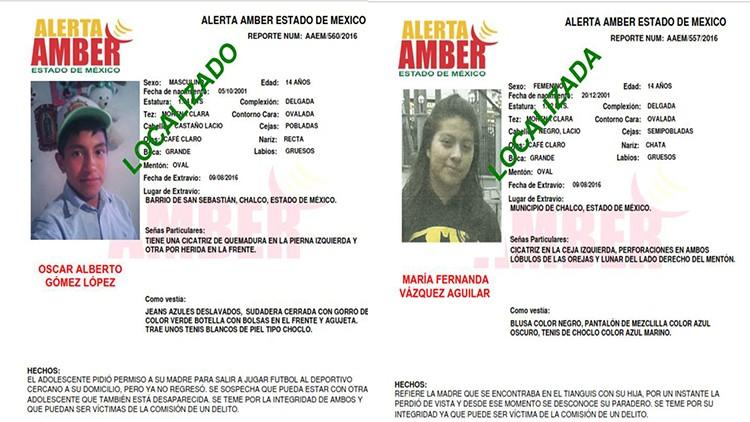 Informa la PGJEM la localización de dos menores reportados como desaparecidos en el EDOMÉX