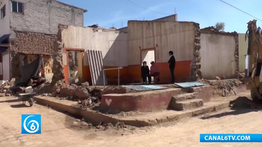 El municipio de Tlayacapan, continúa sin apoyo para damnificados del sismo del 19 de septiembre