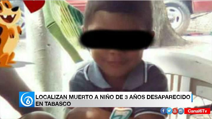 Secuestran y asesinan a niño de 3 años en Tabasco
