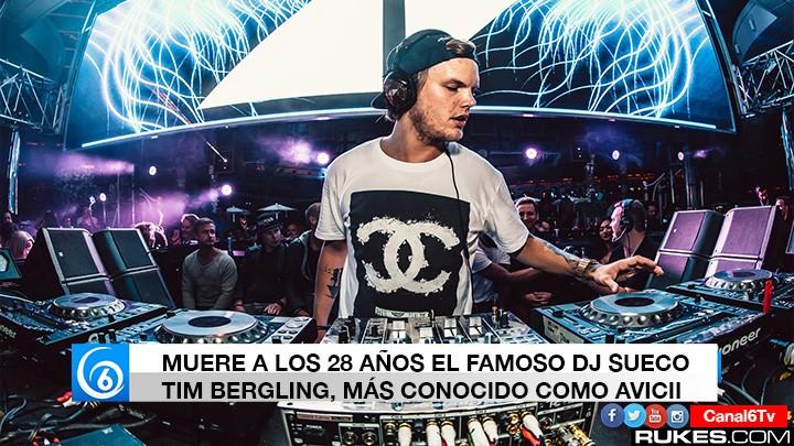 Muere el DJ sueco Avicii a los 28 años de edad