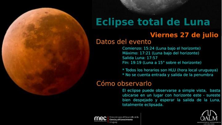El eclipse lunar más largo del siglo XXI será el próximo viernes