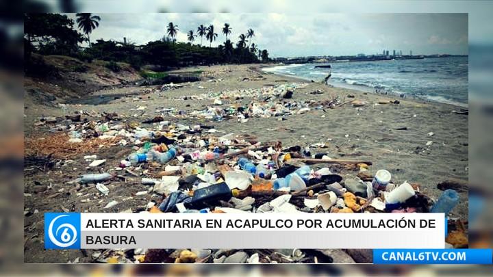 Alerta sanitaria en Acapulco por acumulación de basura