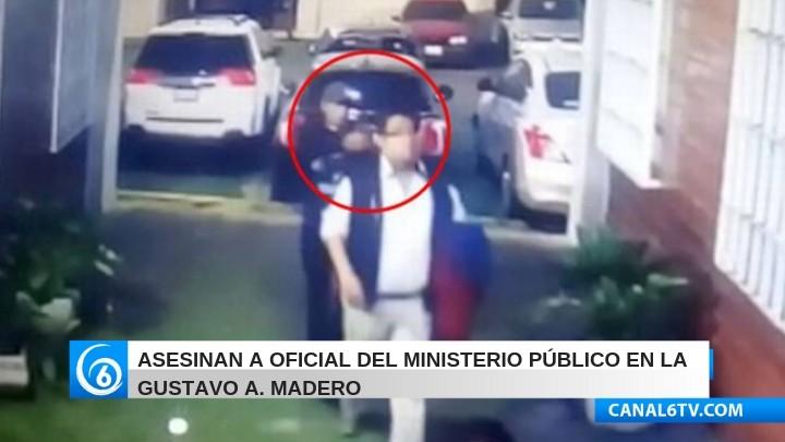 VIDEO: Asesinan a oficial del Ministerio Público en la Gustavo A. Madero