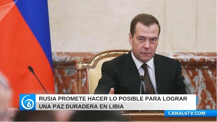 Rusia promete hacer lo posible para lograr una paz duradera en Libia