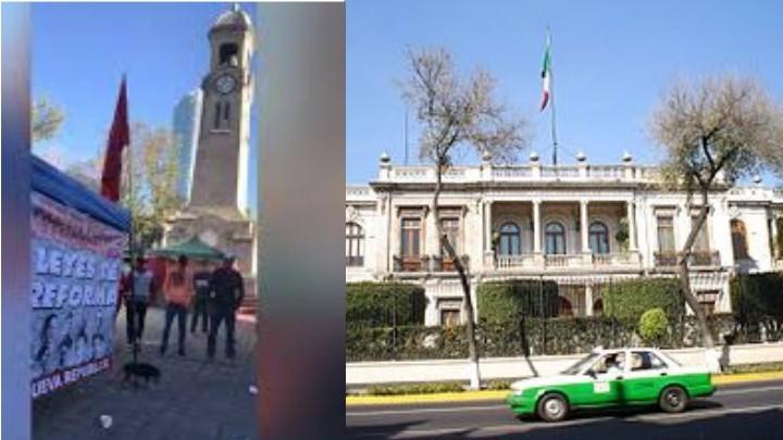 Integrantes del Frente popular Francisco Villa se mantienen en plantón frente a Gobernación