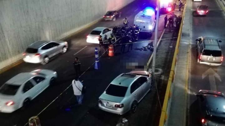 Hombre se arrojó hacia los carriles centrales de Río Churubusco