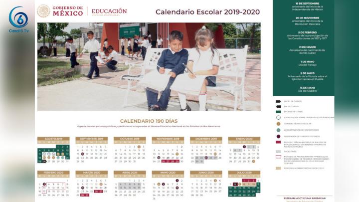 SEP presenta calendario escolar 2019-2020; abarca 190 días de clases