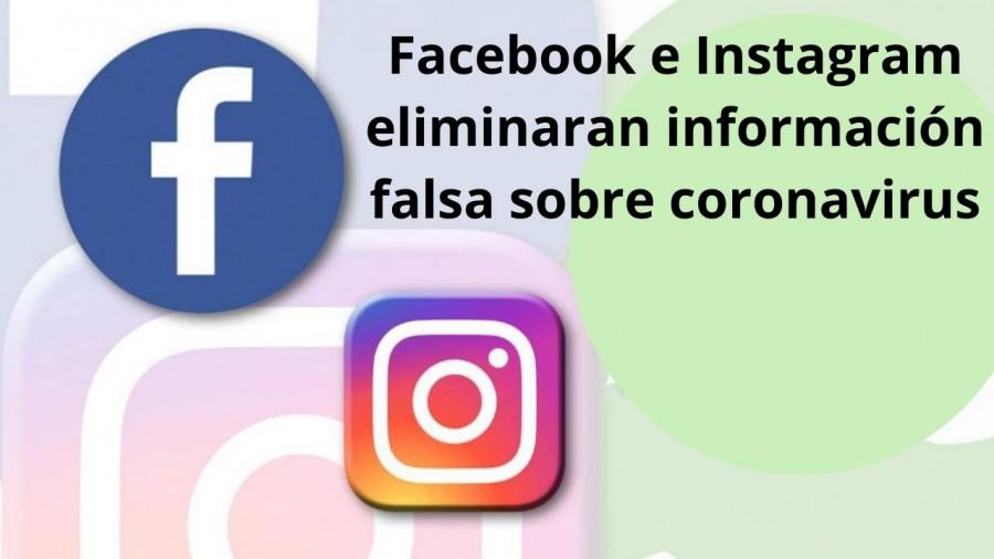 Facebook e Instagram eliminaran información falsa sobre coronavirus