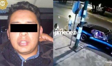 Cae presunto militar que golpeó y arrastró a mujer en Coapa