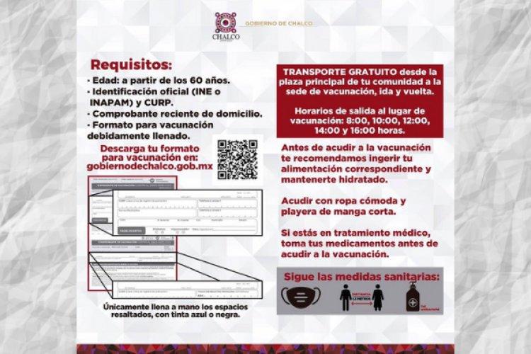 Con agilidad, arranca vacunación contra covid-19 en Chalco