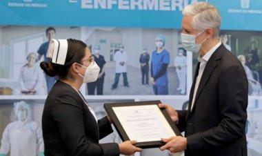 Reconocen labor de enfermeras mexiquenses en combate a pandemia