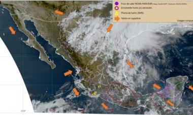 Calor, lluvia y granizo es lo que se espera para hoy en valle de México