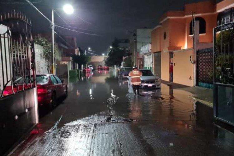 Chubasco registrado el martes en Texcoco, el peor en siete años
