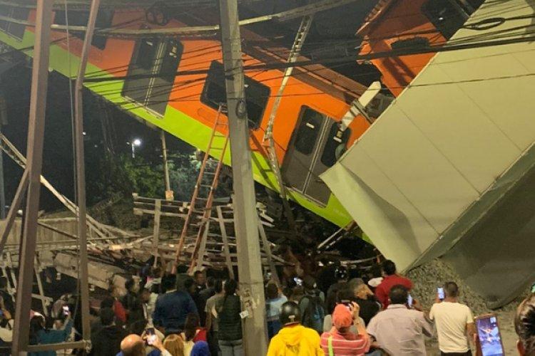 Cae estructura del Metro en la CDMX