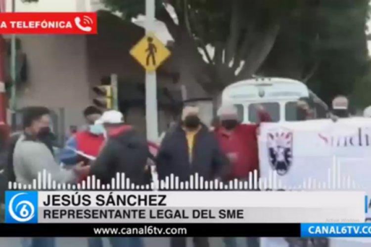 SME realiza protesta en demanda de atención médica del IMSS