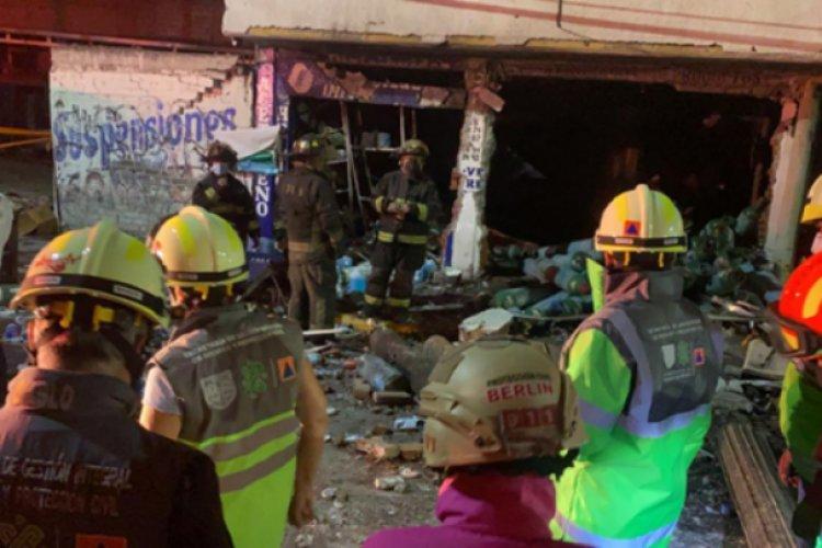 Explosión en local de tanques de oxígeno en Iztapalapa deja un muerto