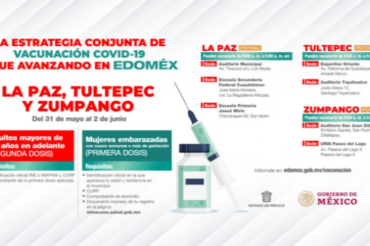 En 10 municipios mexiquenses iniciará la aplicación de segunda dosis a abuelitos