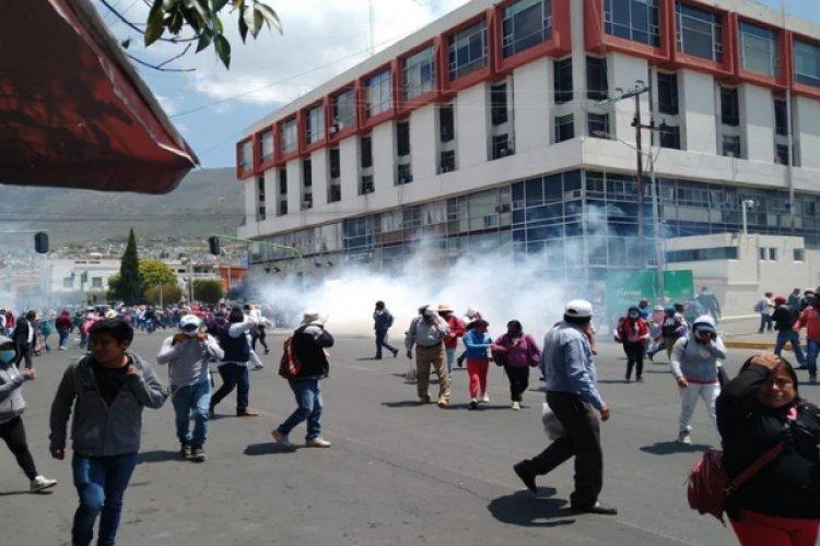 Manifestación en Hidalgo deja un muerto y varios heridos