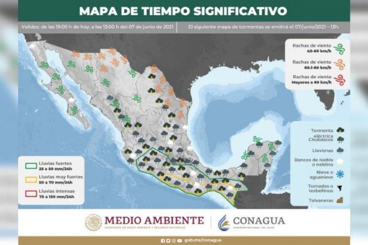 Inicio de semana cálido con posibilidad de lluvias en el Valle de México