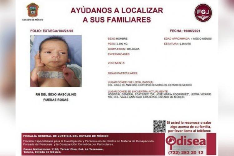 Mujer adicta abandona a su bebé recién nacido en hospital de Ecatepec