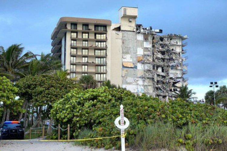 ¡De impacto! Graban desplome de edificio de 12 plantas en Miami