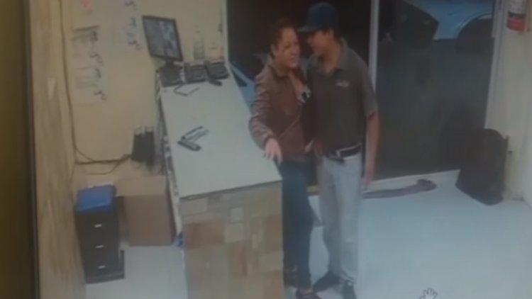 Pareja de ladrones roba una tablet en pizzería de Tultitlán