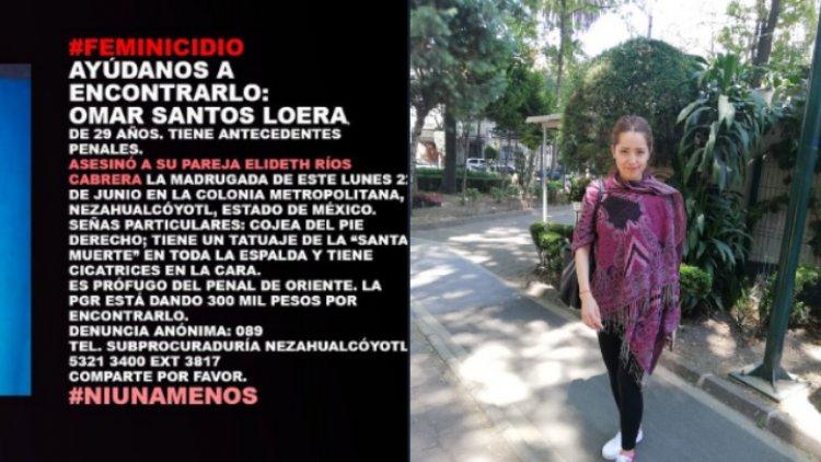 Ofrecen recompensa por ex recluso que mató a su pareja en Nezahualcóyotl