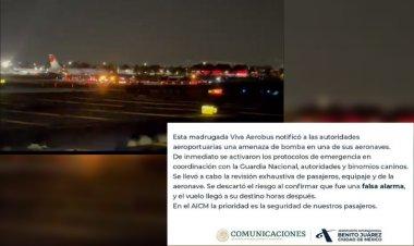 Alertan por falsa amenaza de bomba en vuelo de viva Aerobús