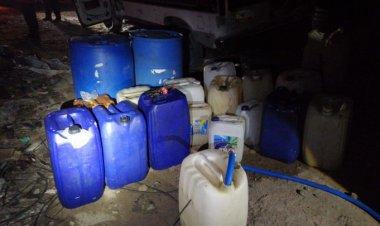 Encuentran toma clandestina de gasolina en la México-Pirámides