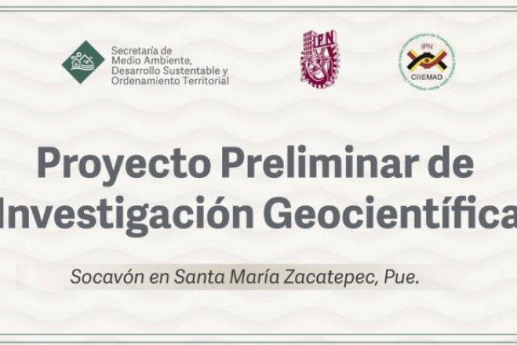 IPN niega participación en estudio sobre socavón de Puebla