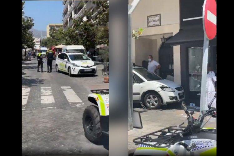 Video: conductor embiste a varios peatones en Marbella, España