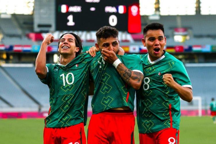 México logra triunfo contra Francia en su debut en Tokio 2020