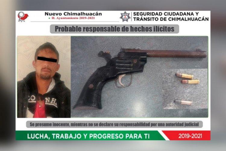 Capturan a sujeto por robo con violencia en Chimalhuacán