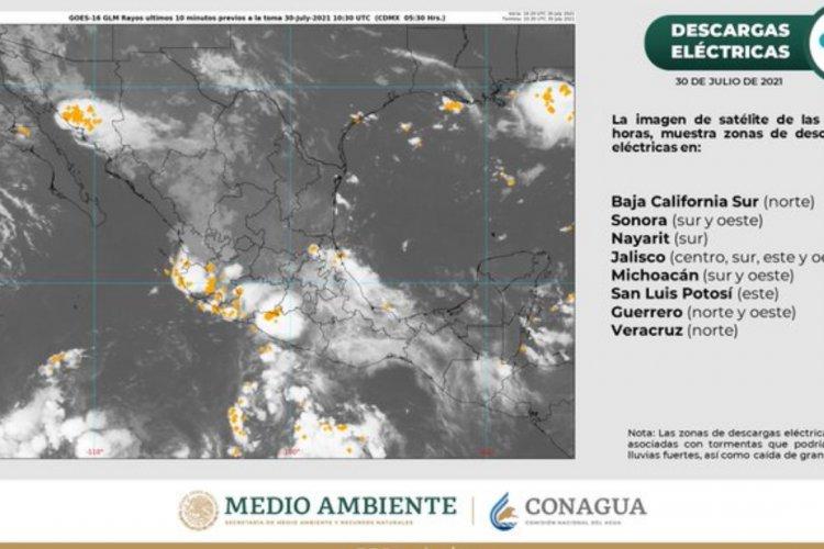 Fin de semana lluvioso para el Valle de México