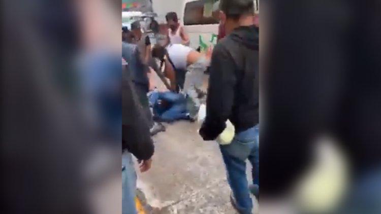 VIDEO: Propinan golpiza a golpeador de mujer en Nicolás Romero