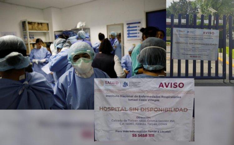 Se repite la historia: INER se queda sin camas para pacientes de Covid-19
