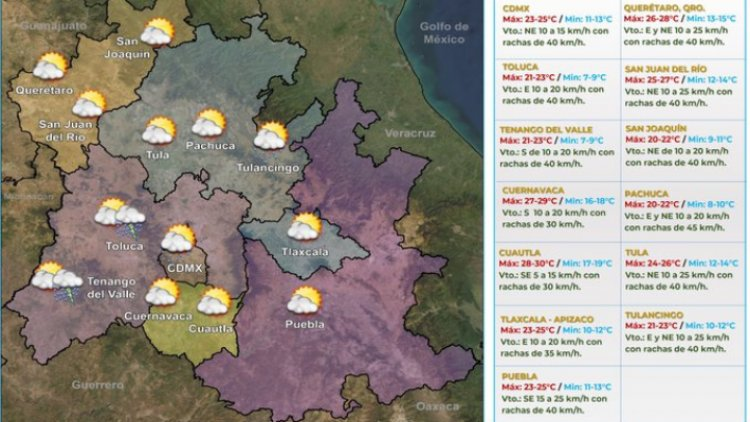 Se esperan lluvias durante el fin de semana en CDMX y Edomex
