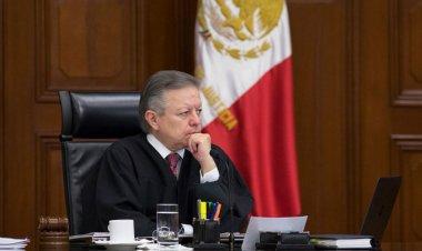 Zaldívar se reúne con magistrados tras cambio en presidencia del TEPJF