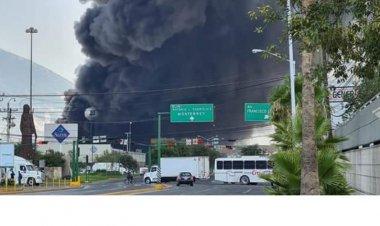 Sofocan incendio en planta de Protexa, en Nuevo Leon; hay cuatro heridos