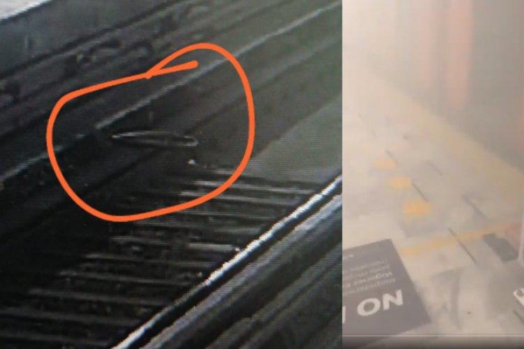 Llanta de bici causa corto circuito en línea 1 del metro de la CDMX