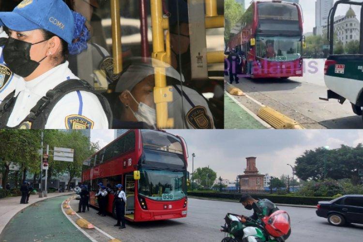 Mujer de mediana edad muere a bordo del Metrobús en reforma