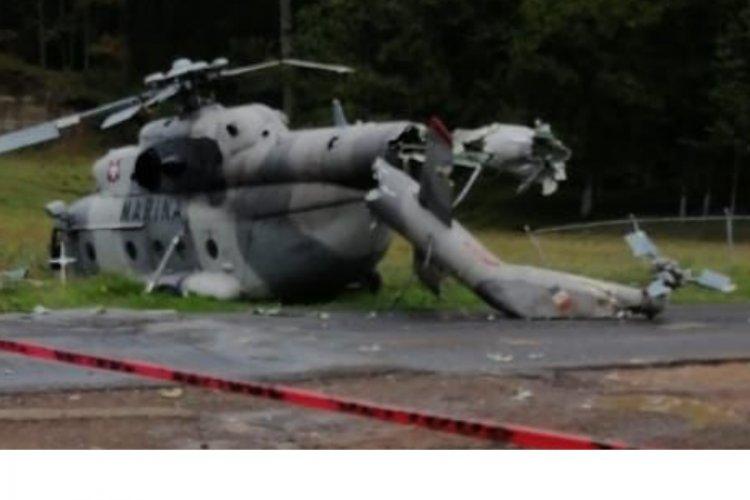 Hay cuatro heridos tras desplome de helicóptero de la SEMAR