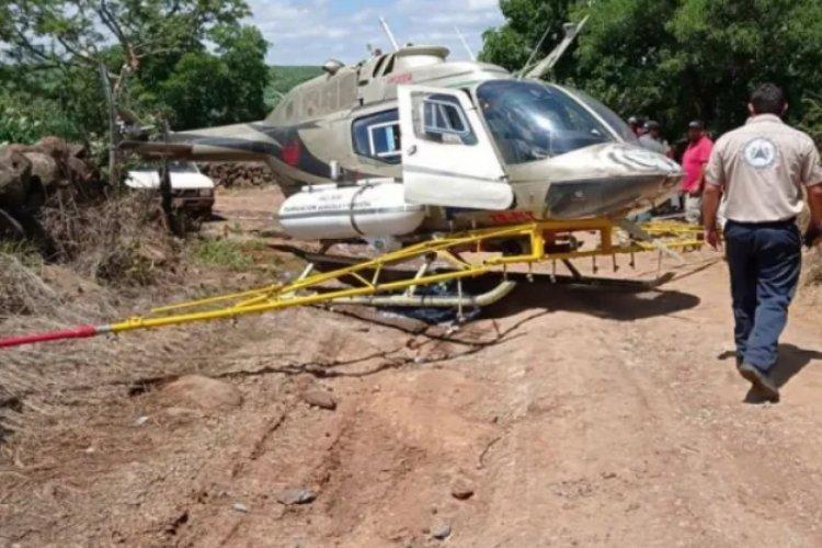Aterriza de emergencia helicóptero en Jalisco; hay un herido