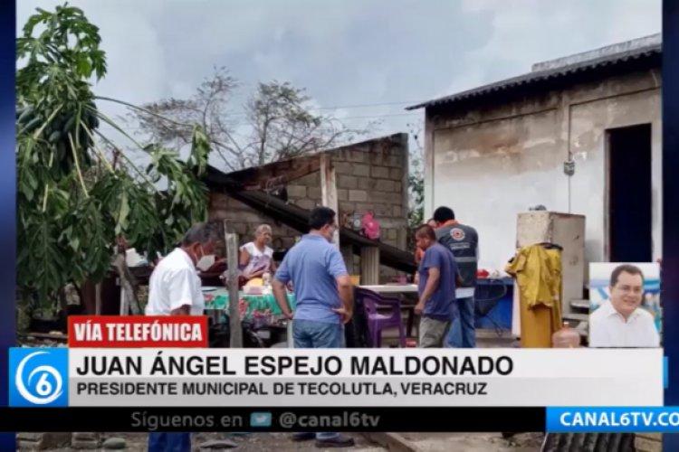 Más de 12 mil habitantes de Tecolutla resultaron afectados por «Grace»: alcalde
