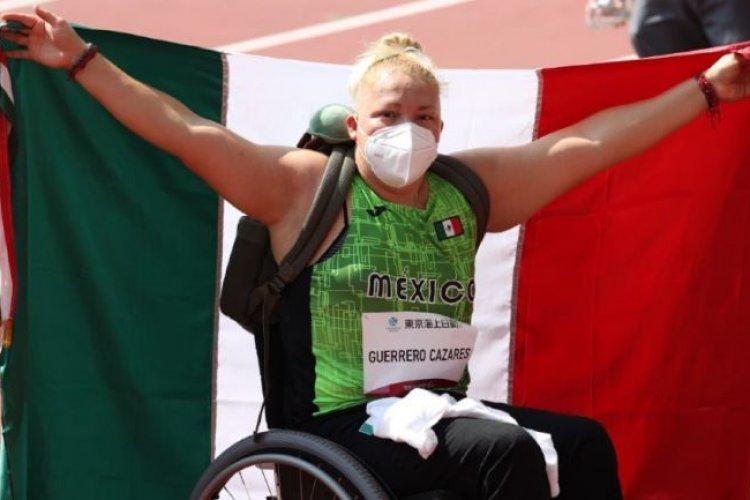 Paratleta Rosa María Guerrero gana el bronce en lanzamiento de disco